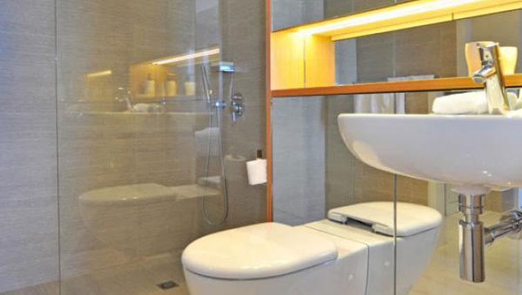 Toilet at Astra Perth Queens 111 Apartments