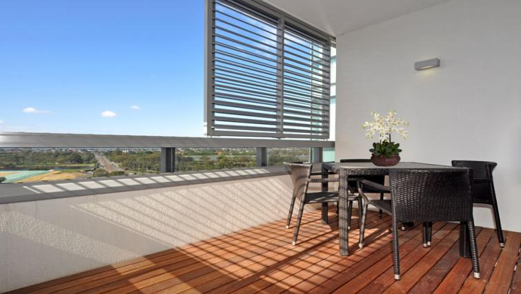 Balcony at Astra Perth Queens 111 Apartments