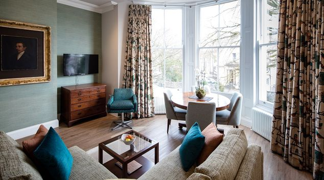 Living room at  Beech House Serviced Apartments