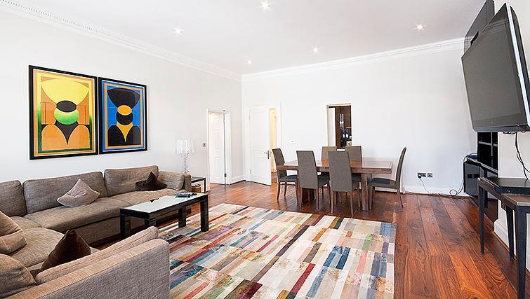 Beautiful living area at 20 Hertford Street Apartments