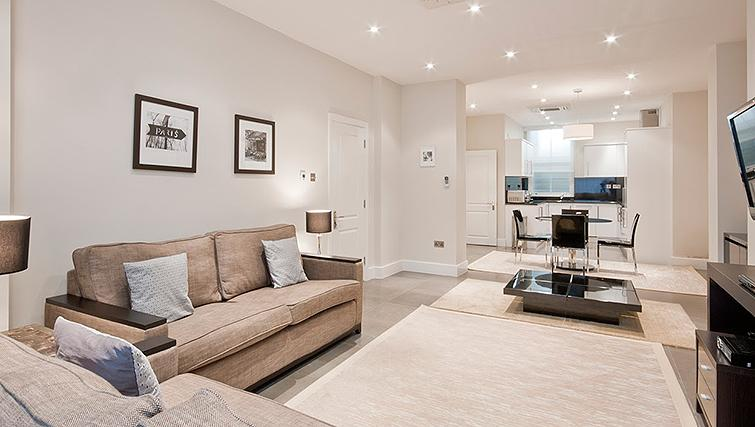Simple living area at 20 Hertford Street Apartments