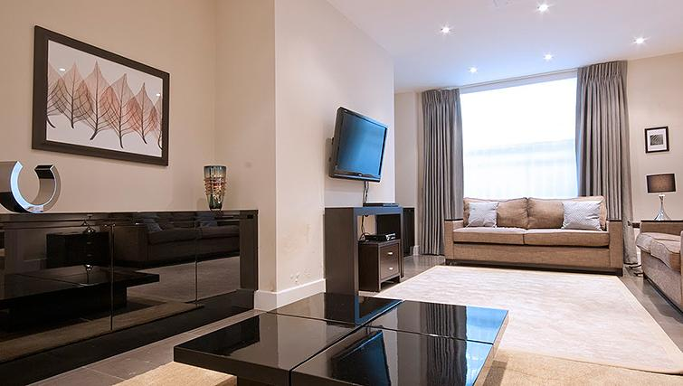 Modern living area at 20 Hertford Street Apartments