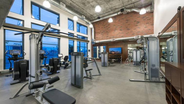 Communal gym at the Channel Mission Bay Apartment