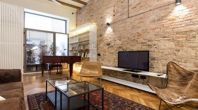 Living area at Piano Loft Apartment