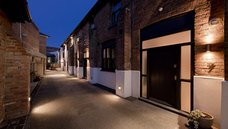 Pristine exterior of St Peters Mews Apartments