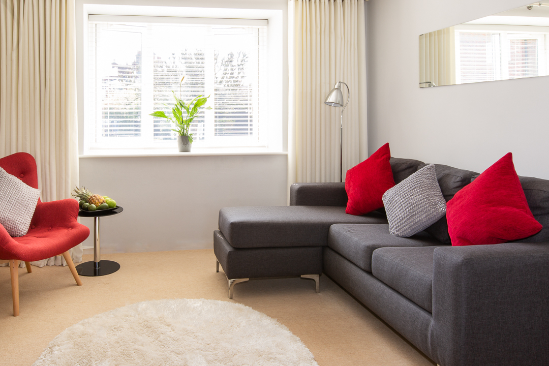 Living room at Christchurch Close Apartment