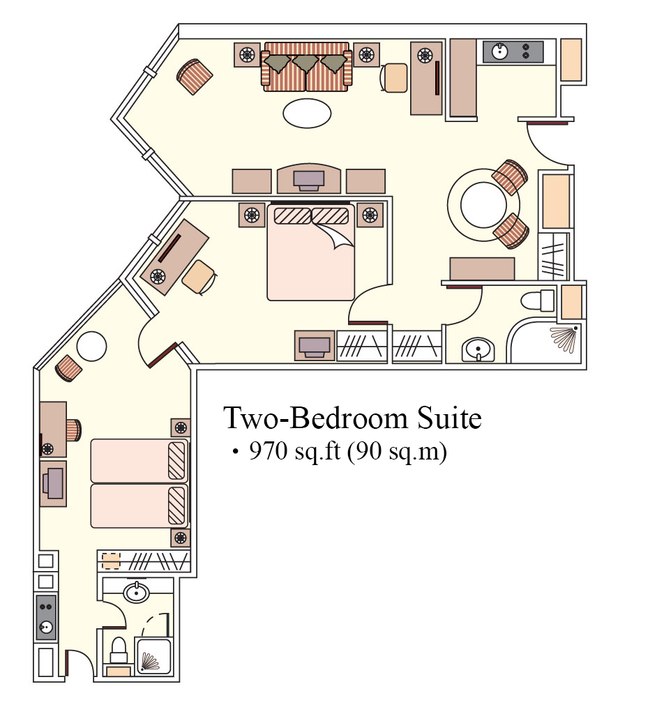 2 bed apartment at Harbour Plaza North Point Apartments