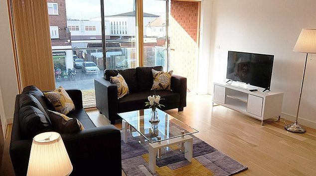Living room at the Ruislip Apartments