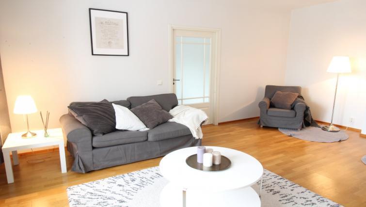 Living room at the Lähettilääntie Apartment