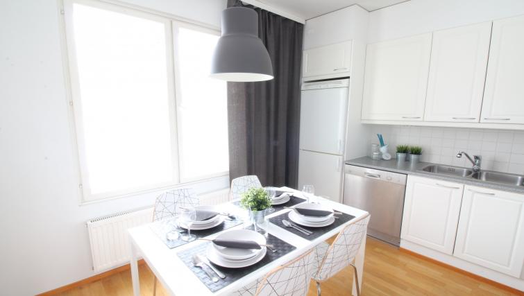 Dining area at the Lähettilääntie Apartment