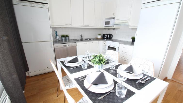Kitchen at the Lähettilääntie Apartment
