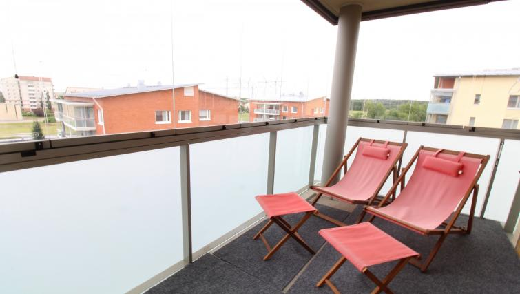 Roof terrace at the Pakkalanrinne Apartment