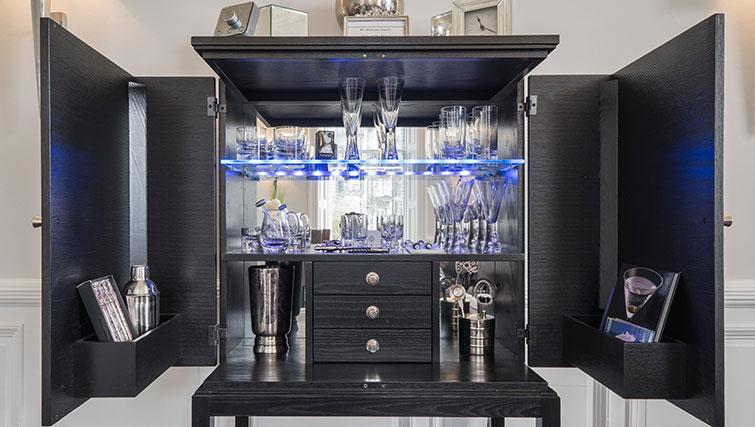 Cocktail cabinet at Marks @ The Manor Riverside Apartments