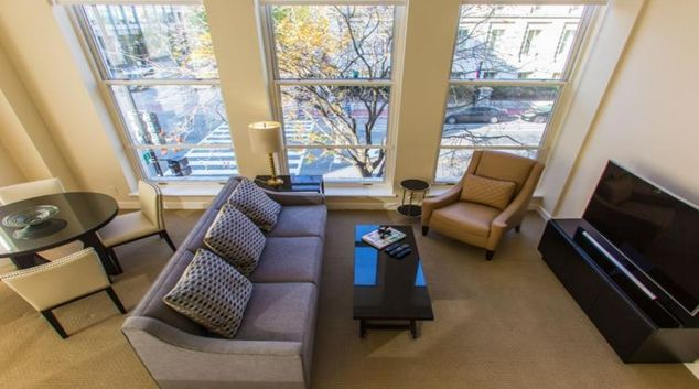 Lounge at The Lansburgh Apartment