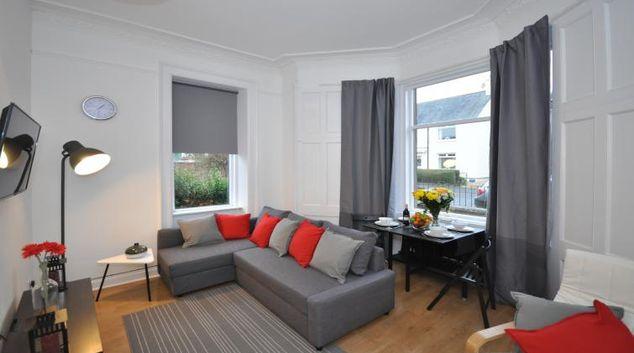 Living area at Elderpark Apartments