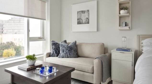 Living room at Ampeer Residences