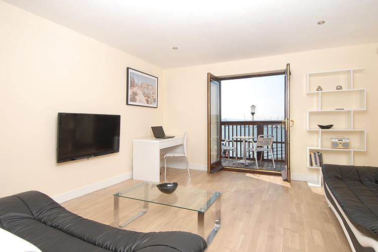 Balcony at Freemans Wharf Apartment