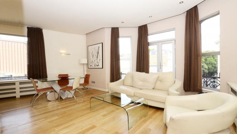 Living area at 1 Harrington Gardens