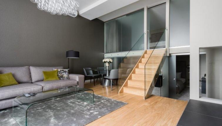 Living space at 1 Harrington Gardens