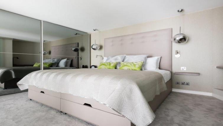 Spacious bedroom at 1 Harrington Gardens