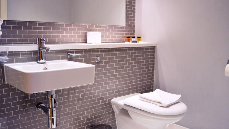 Bathroom in studio at 1 Harrington Gardens