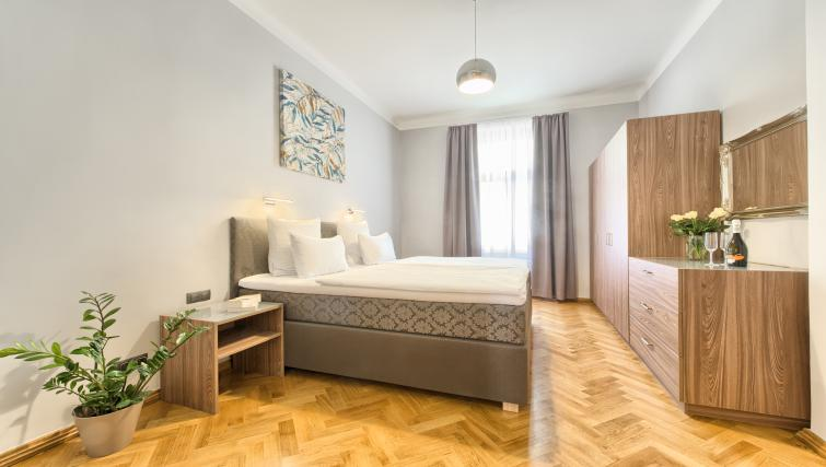 Double bed at Dusni 13 Apartment