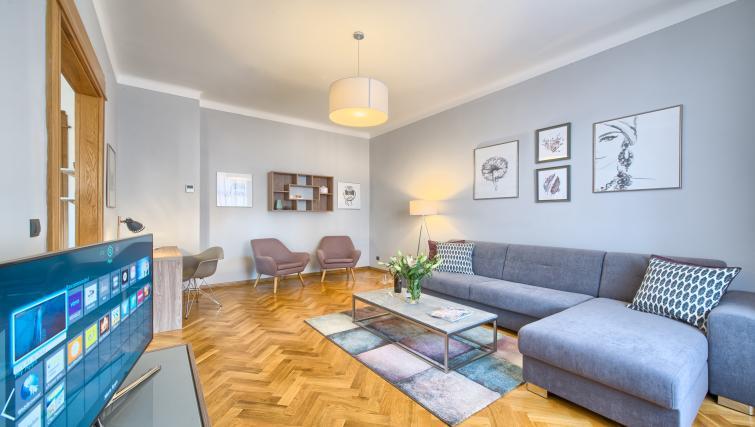 Spacious living area at Dusni 13 Apartment