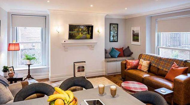 Living area at the Morehampton Mews Apartments
