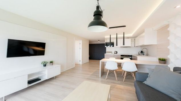 Living room at the Waterlane Residence Apartments