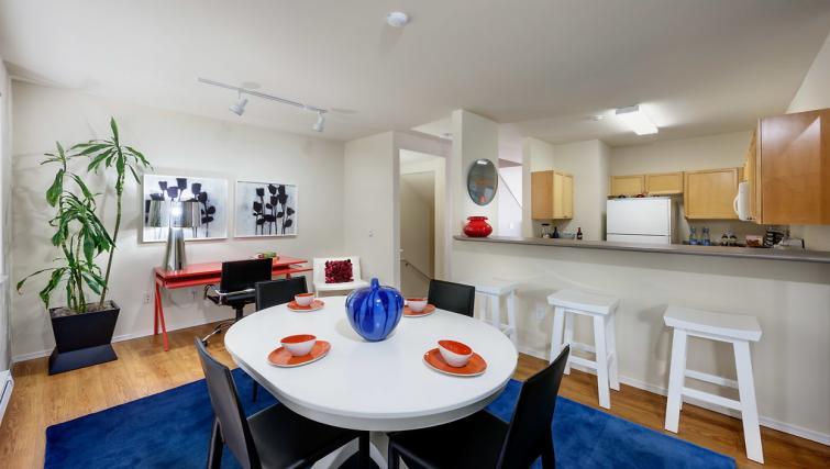 Dining table at the Pinnacle Sonata Apartments