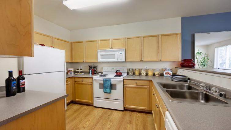 Kitchen at the Pinnacle Sonata Apartments