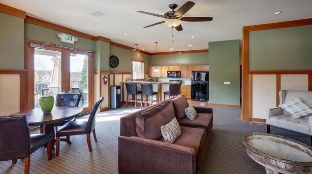 Living room at the Pinnacle Sonata Apartments