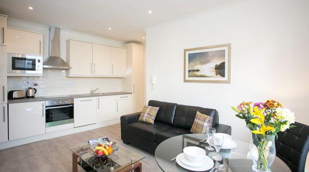 Living area at Northumberland Road Apartments, Ballsbridge, Dublin