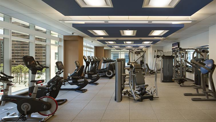 Gym at the Solaire Apartments