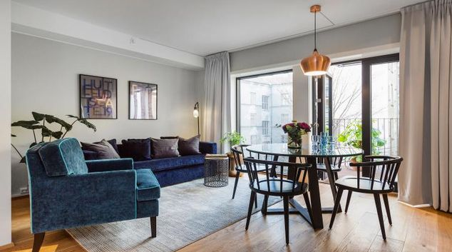 Living area at Huitfeldtsgate 19 Apartments