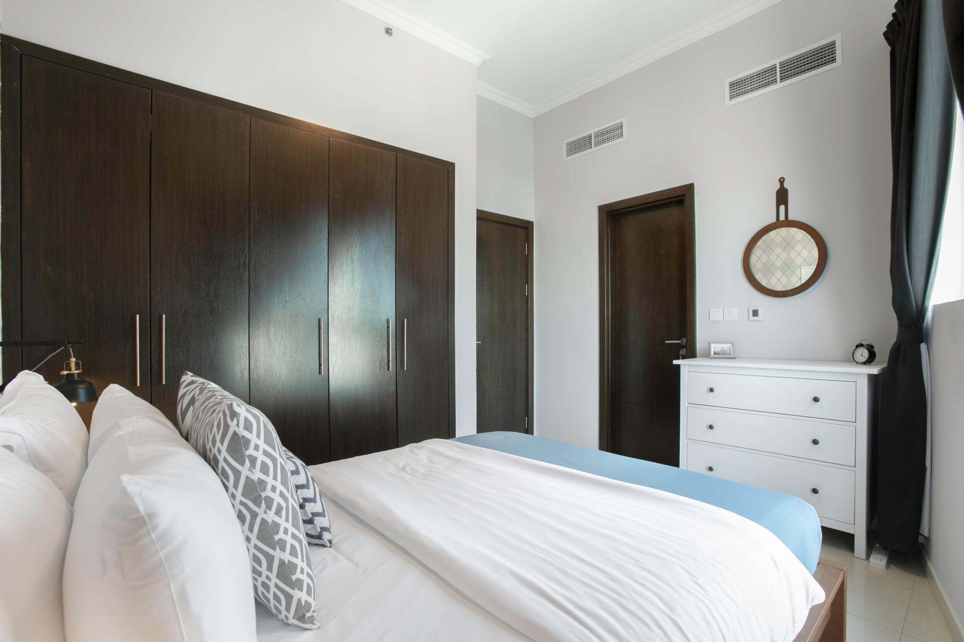Bedroom storage at Royal Oceanic Apartment