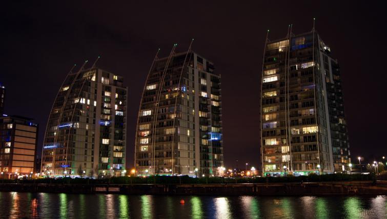 Night vew at IncityNow Media City Penthouse