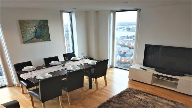 Living area at IncityNow Media City Penthouse