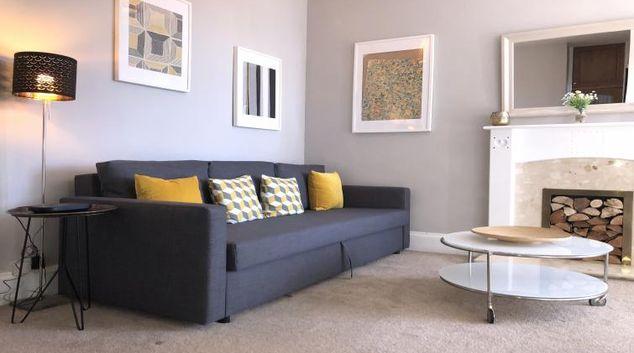 Living area at Glasgow West Apartment, Anniesland, Glasgow