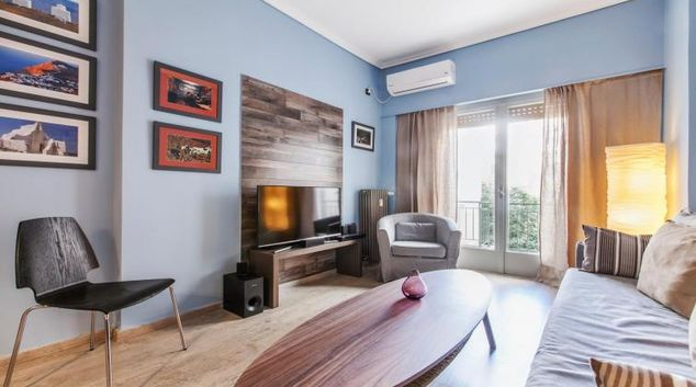 Living area at the Didotou II Apartment
