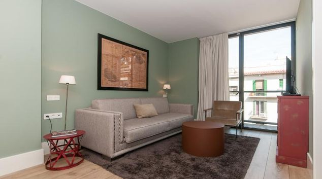 Living area at the Weflating Sagrada Familia Apartments