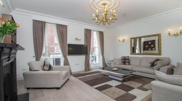 Living area at Marylebone Village Apartments
