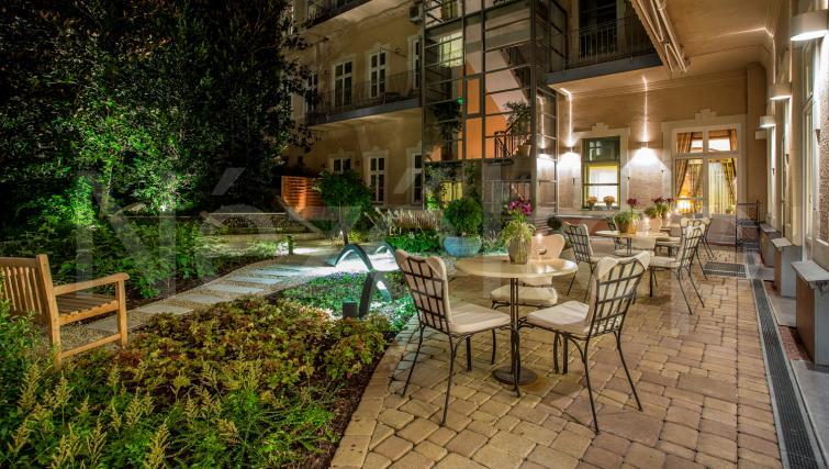 Garden furnishings at the Mamaison Residence Izabella