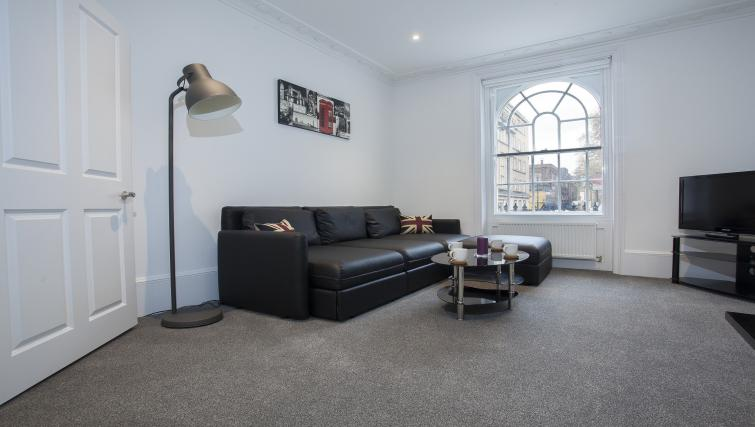 Spacious lounge at King's Cross Apartment