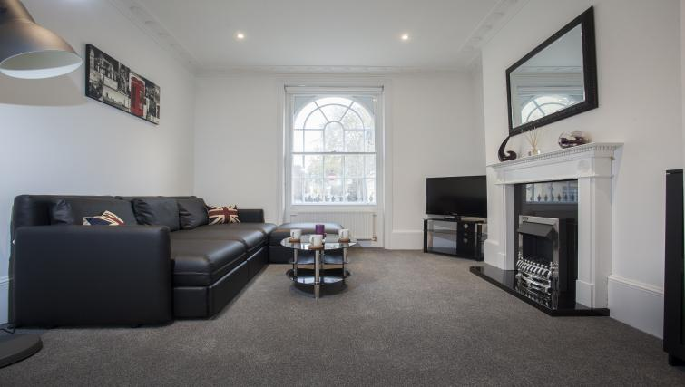 Living room at King's Cross Apartment