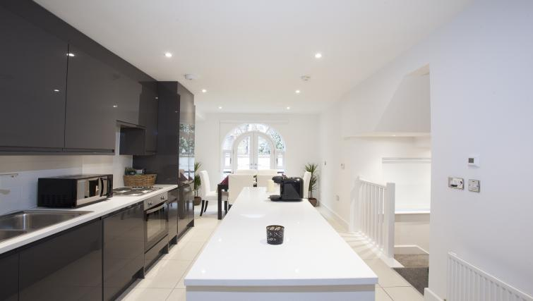 Modern kitchen at King's Cross Apartment