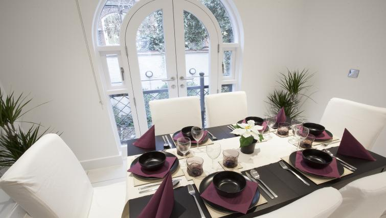 Dining table at King's Cross Apartment