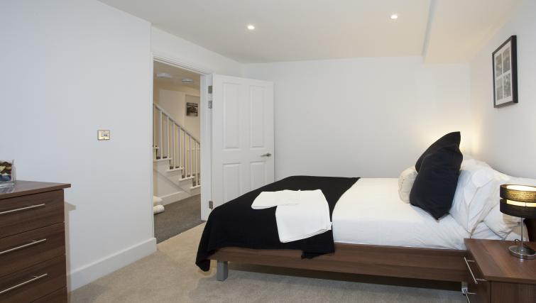 Spacious bedroom at King's Cross Apartment