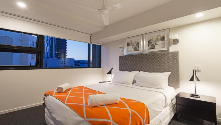 Large bedroom at Astra Arena Brisbane Apartments