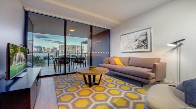Living room at Astra Arena Brisbane Apartments